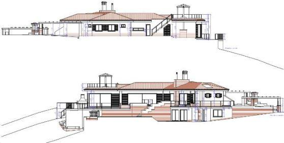 Elevations East and West of House in Marbella