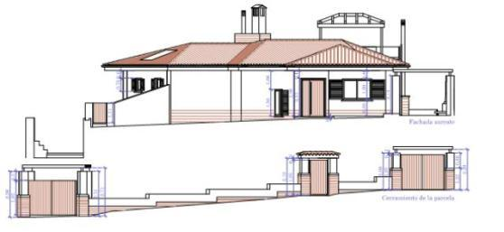Elevation North of House in Marbella