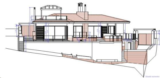 Elevation South of House in Marbella